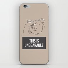 This Is Unbearable iPhone & iPod Skin