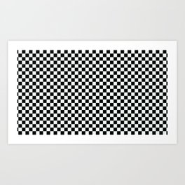 B&W CHECKER Art Print