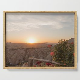 Sunset Over Rose Valley, Cappadocia Serving Tray