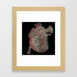 My musical heart Framed Art Print
