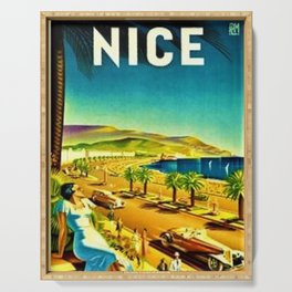 Nice, France French Riviera classic 1930's Poster Art Serving Tray