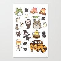 ghibli Canvas Prints featuring studio ghibli  by skymerol