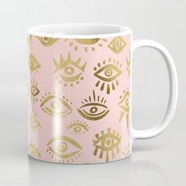 Mystics Eyes – Blush & Gold Coffee Mug