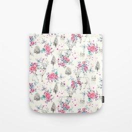 Deer pattern Tote Bag