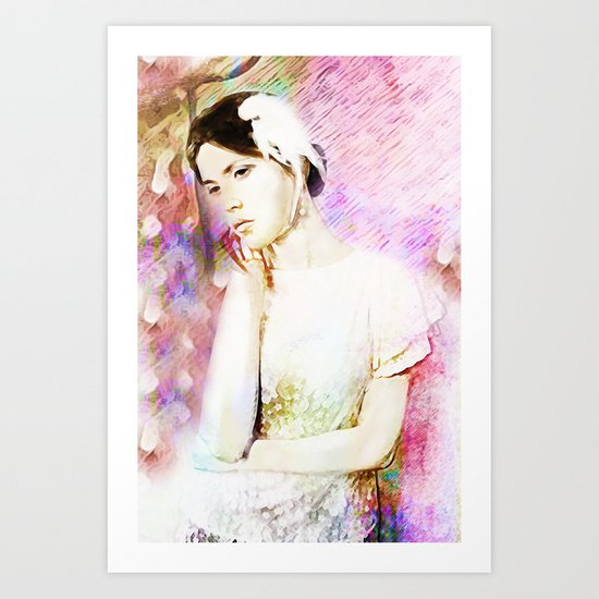 Absorption Portrait Art Print