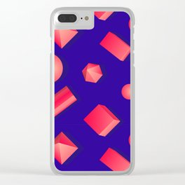 Colorful pattern of geometric shapes. Clear iPhone Case