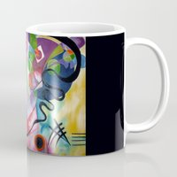 kandinsky Mugs featuring KANDINSKY - oil painting by NoMoreWinters