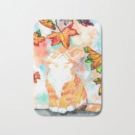 Autumn Magic Cat  Bath Mat