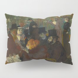 Henri de Toulouse-Lautrec - At the Moullin Rouge Pillow Sham
