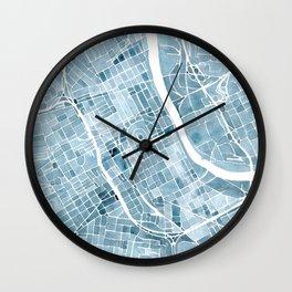 Map Nashville Tennessee Blueprint City Map Wall Clock