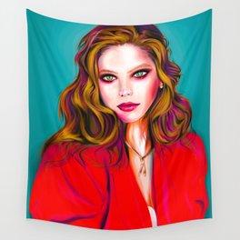 Stylized Vector Portrait. Ornella Muti Wall Tapestry