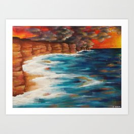 Moroccan Sea Spray Art Print