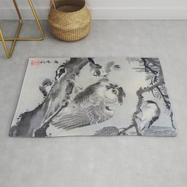 Owl Mocked By Small Birds - Digital Remastered Edition Rug