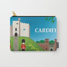 Cardiff, Wales - Skyline Illustration by Loose Petals Carry-All Pouch