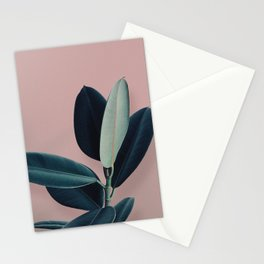 Ficus elastica - berry Stationery Cards