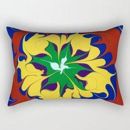 Dripping Color mandala Rectangular Pillow