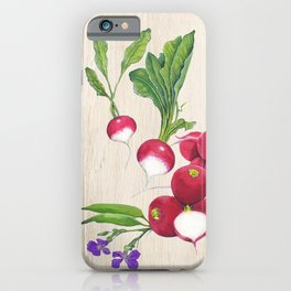 Radishes and their Blossom iPhone Case