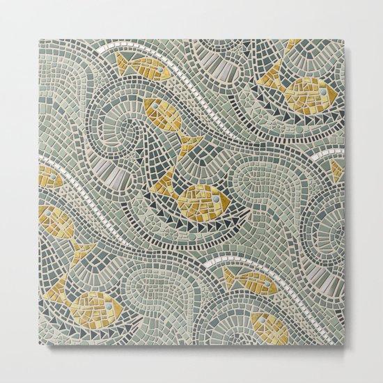 mosaic fish Metal Print