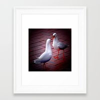 gossip girl Framed Art Prints featuring Gossip by Lydia Cheval