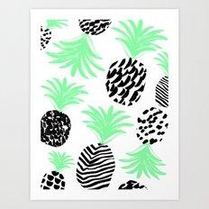 Classy Pineapples Art Print