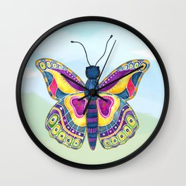 Butterfly III on a Summer Day Wall Clock