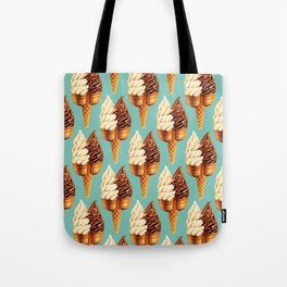 Ice Cream Pattern - Teal Tote Bag