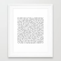 polkadot Framed Art Prints featuring Polkadot Dominos by chelsea dawn brown