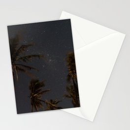 Milky Way Palm Trees Stationery Cards