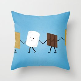 Smores - Best Friend Throw Pillow
