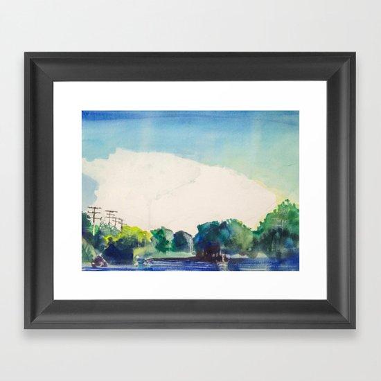 Blue Street Framed Art Print