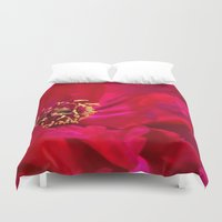 peony Duvet Covers featuring Peony by Christine Belanger