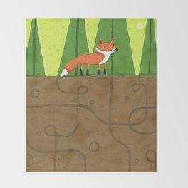 Earth Fox Throw Blanket
