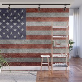 USA flag, High Quality retro style Wall Mural