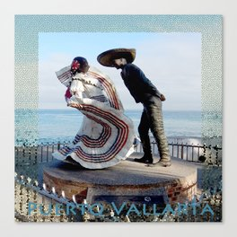 Puerto Vallarta, Mexico Sculpture by the Sea Canvas Print