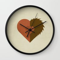 beauty and the beast Wall Clocks featuring Beauty and the Beast by Christian Jackson