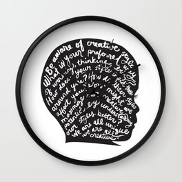 WE ARE ALL CREATIVE Wall Clock