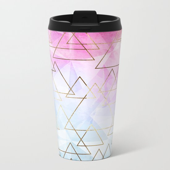 Collage geometric Metal Travel Mug
