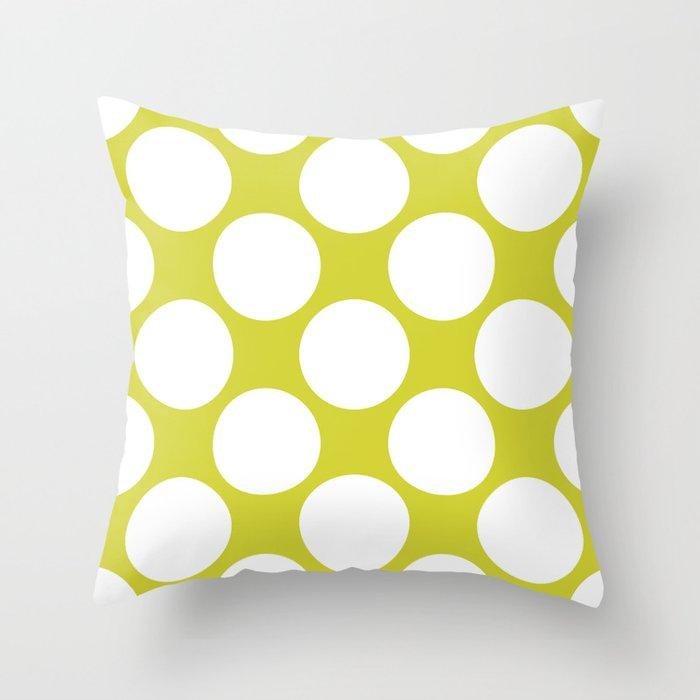 Polka Dots Green Throw Pillow