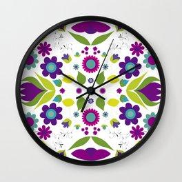 Floral 2  Wall Clock
