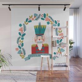 Nutcracker Christmas Floral Wall Mural