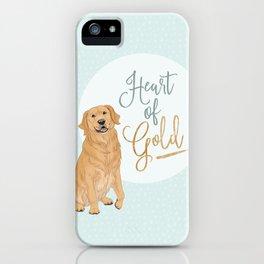 Heart of Gold // Golden Retriever iPhone Case