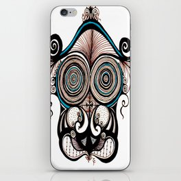 Turquoise Face iPhone Skin