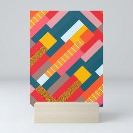 Colorful blocks Mini Art Print
