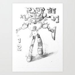 Battlebot XL41 Art Print