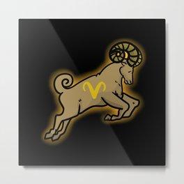 Capricorn Zodiac Sign Metal Print