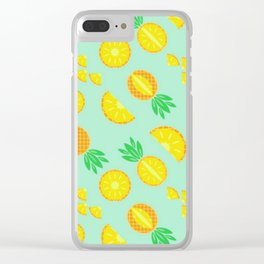 Sliced Pineapple Clear iPhone Case