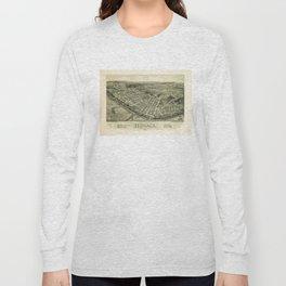 Aerial View if Monaca, Pennsylvania (1900) Long Sleeve T-shirt
