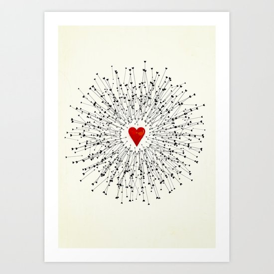 Heart&Arrows Art Print