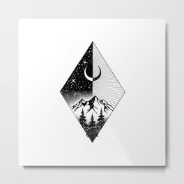 THE MOON AND THE FOREST Metal Print