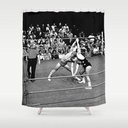 Kevin VonEric vs Frank Star Shower Curtain